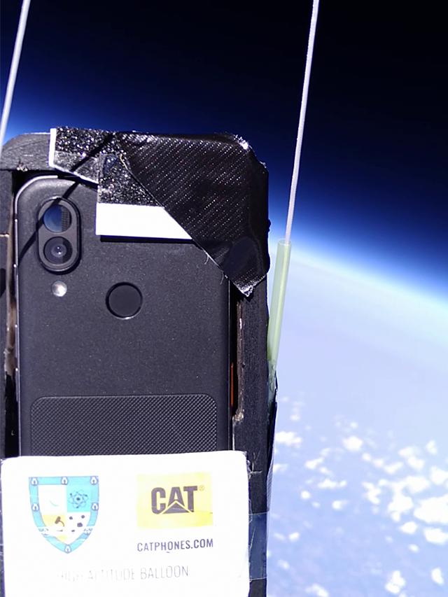 Watch Cat phones in space!